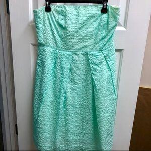 J. Crew strapless mint green dress